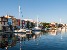 View Of Port Grimaud, France
