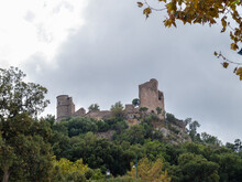 View Of The Castle Of Grimaud (Chateau De Grimaud), French Riviera, Southern France