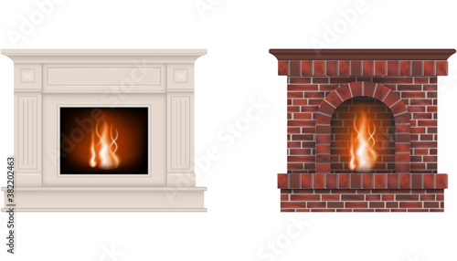 Cuadros en Lienzo isolated fireplaces