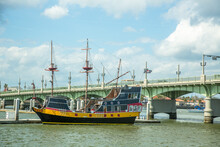 A Tall Ship Replica With The B...