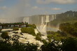 Rainbows over the mighty and powerful Iguzu (Iguacu) Waterfalls between Brazil and Argentina