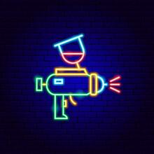 Paint Gun Neon Sign