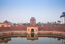 Hussainabad Pond And Satkhanda Watchtower, Lucknow, Uttar Pradesh, India