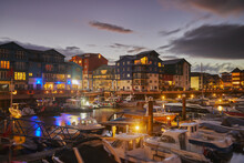 A Dusk View Of The Marina And ...