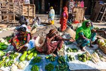 Woman Selling Vegetables, Vege...