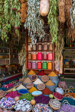 A Display Of Spices In Spice M...