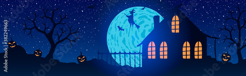 Vector illustration of halloween Wallpaper Mural