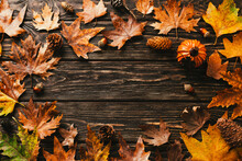 Autumn Background. Frame Made ...