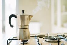 Making Coffee With A Moka Mach...