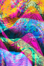 Painted Colorful Glitch Palm/floral Pattern/background/texture