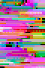 Vibrant, Digital Pixel Glitch Background/texture/mosaic/collage