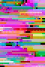 Vibrant, Digital Pixel Glitch Background/texture/mosaic/collage