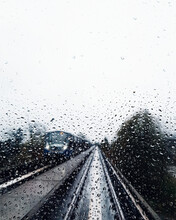 Train Tracks As Seen Through A...