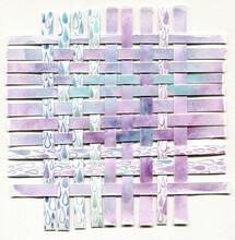 Violet Rain Paper Weaving Abstract Art