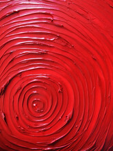 Abstract Oil Painting With Concentric Circles