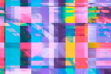 Vibrant, Digital Pixel Glitch Background/texture/mosaic/collage Cyan