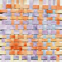 Orange And Violet Weaved Paper Collage