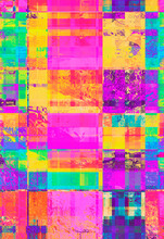 Vibrant, Digital Pixel Glitch Background/texture/mosaic/collage - Fluid