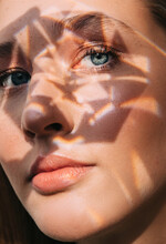 Model With Crystal Shade On Face