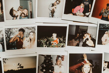 Polaroids Images Of Friends In...
