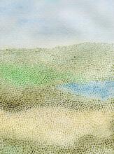 Pointillism Landscape With Lake