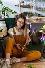 Small Business. Florist Woman ...