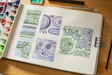 Sketchbook With Abstract Illustrations