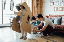 Family Doing Crafts