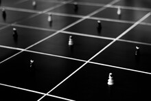 Social Distancing Concept Chess