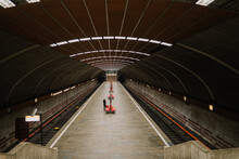 Empty Metro Station During 2020 Pandemic