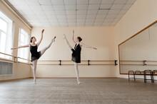 Ballerinas Dancing Together In...