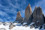 Mountain summit in Torres del Paine National Park, Patagonia, Chile