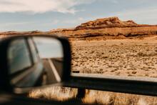 Driving Through The Desert In ...