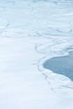 Cracks on a frozen lake