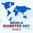 vector illustration of world diabetes day