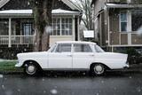 Retro Automobile In Snow