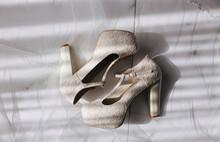 High Heels On A Marble Floor W...