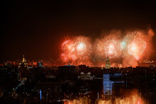 Festive Fireworks In Moscow, Victory Day Celebrations