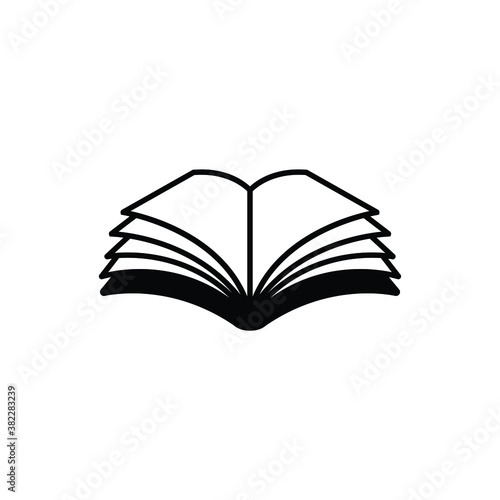 Open book icon vector isolated on white, logo sign and symbol. Tapéta, Fotótapéta