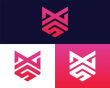 Letter X S Logo Design. Creative Minimal Monochrome Monogram Symbol. Universal Elegant Vector Emblem. Premium Business Logotype. Graphic Alphabet Symbol For Corporate Identity