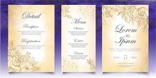 Elegant Vintage Floral Wedding Invitation Template