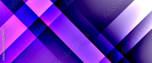Fototapeta Fluid gradients with dynamic diagonal lines abstract background. Bright colors with dynamic light and shadow effects. Vector wallpaper or poster obraz