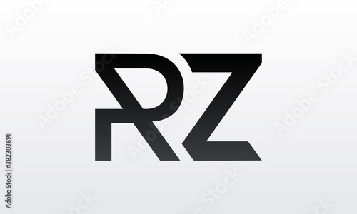 Obraz na plátně Initial rz letter logo with creative modern business typography vector template