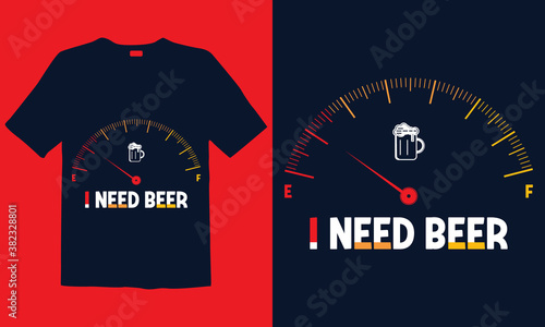 Fototapeta Beer Lover t-shirt templates