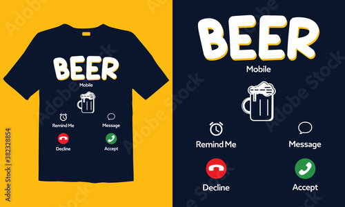 Canvas-taulu Beer Lover t-shirt templates
