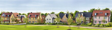 Beautiful New Homes In Suburban Neighborhood