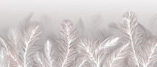 Wallpapers. Feathers On A Gray Background.