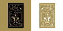 Tarot Card Minimalist Vector Illustration