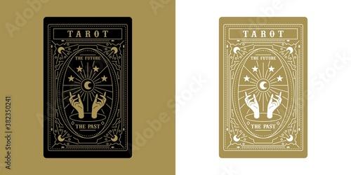 Fotografie, Tablou Tarot Card Minimalist Vector Illustration