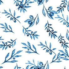 Tropical Tree Pattern. Turquoise Engraved Botanic. Sea Tropical Flowers Brazilian. Graphic Pattern Summer. Watercolor Banana Tree. Aquamarine Palm Trees Flyer. Floral Hawaiian.